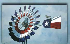 Painting: The Pride of Texas.